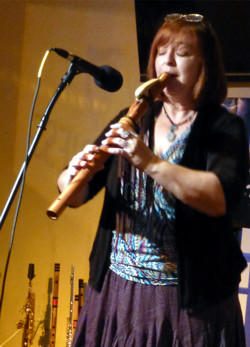 Karen Rugg at a flute workshop